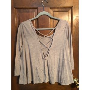 American Eagle Laced up criss-cross back top